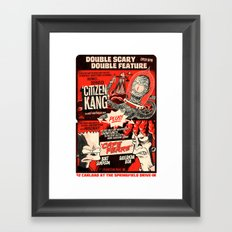 Double Scary Double Feature Framed Art Print