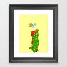 Here Battle Kitty Kitty Framed Art Print