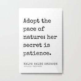 22  | Ralph Waldo Emerson Quotes | 200727 Metal Print