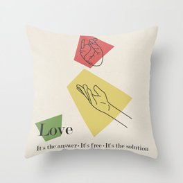 Love: Fifties Throw Pillow