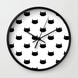 Kitten Pattern Wall Clock