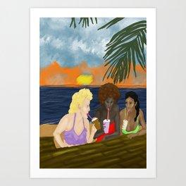 Tiff, Brit & Ingrid Art Print