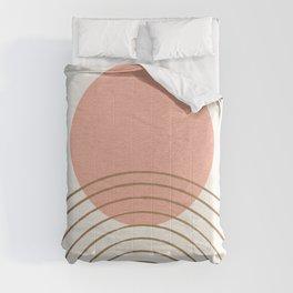 Pink Sun Mid-Century Full Comforters