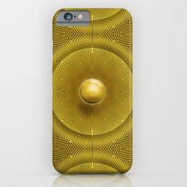 Golden Sunrise Pattern iPhone Case