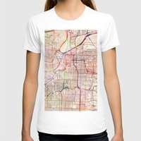 kansas T-shirts featuring Kansas City by MapMapMaps.Watercolors