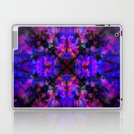 Dark blue kaleidoscope pattern Laptop & iPad Skin