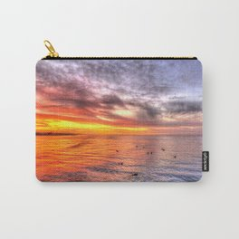 Surfers with Dawn Colors Huntington Beach California Carry-All Pouch