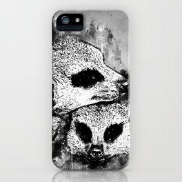 meerkat suricate mongoose wsbw iPhone Case