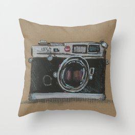 Diddie Doodle the Camera Throw Pillow