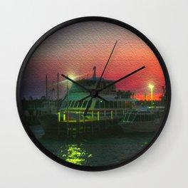Twilight at the Bay Wall Clock