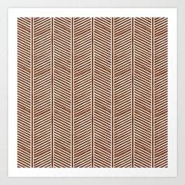 Organic Chevron on Brandywine Art Print