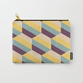 Striped Hexagons Carry-All Pouch