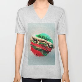 ACRYLIC BALL III // 3D ABSTRACT Unisex V-Neck