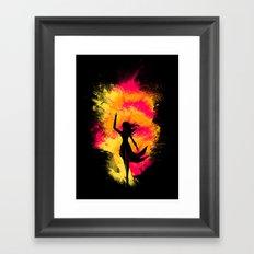 Typical Explosion Scene Framed Art Print