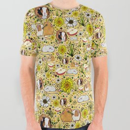 Guinea Pig Pattern All Over Graphic Tee