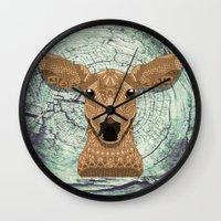 bambi Wall Clocks featuring Bambi by ArtLovePassion