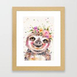 Little Sloth Framed Art Print