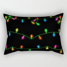 Christmas lights collection Rectangular Pillow