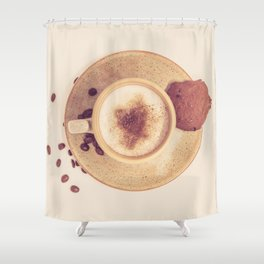 Vintage Coffee Love Photography Shower Curtain