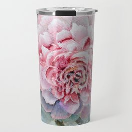 Peony Memories Flower Painting Travel Mug