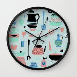 Kitschy Kitchen in Minty Wall Clock