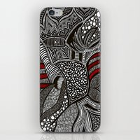 wave iPhone & iPod Skins featuring Wave by Lauren Moore
