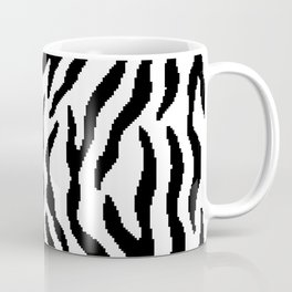 8 bit Zebra stripes pattern. Digital illustration Coffee Mug