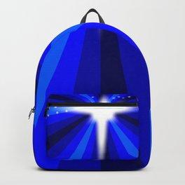 Blue Christmas Star Backpack