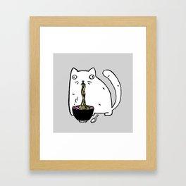 Rasabi Cat - Ramen Forever Framed Art Print