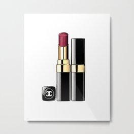 LIPSTICK PRINT Makeup Print Lipstick Print,Makeup Painting Glam Room  Fashion Painting Metal Print