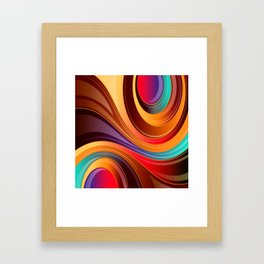 Abstract Colorful Swirls Framed Art Print
