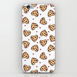 Pizza hearts cute love gifts foodie valentines day slices iPhone Skin