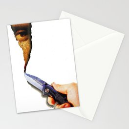 Mona Lisa Surreal Knife Canvas Blank Stationery Cards