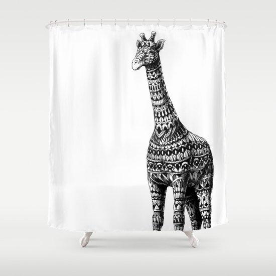 Ornate Giraffe Shower Curtain