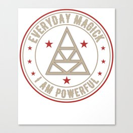I Am Powerful activated magickal sigil tshirt gift Canvas Print