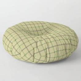 Fern Green & Sludge Grey Tattersall Horse Blanket Print Floor Pillow