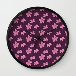 Japanese Neck Gator Cherry Blossom Wall Clock