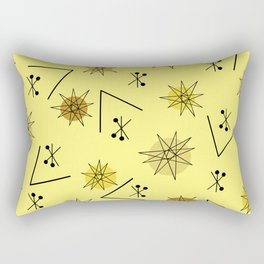 Mid Century Modern Sputnik Starburst Planets 4 Rectangular Pillow