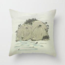 Hibernature Throw Pillow