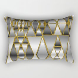 Gray Ombre Abstract Geometry Rectangular Pillow