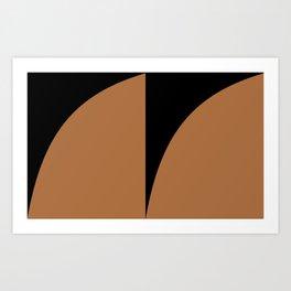 Bold Geometric Shapes - Orange Art Print