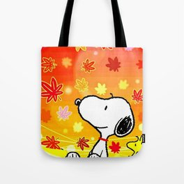 Snoopy saw the sunset Tote Bag