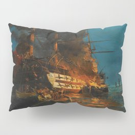 The Burning of a Turkish Frigate Pillow Sham