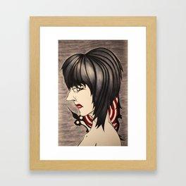 Girl VS Time Framed Art Print