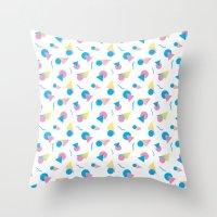 jem Throw Pillows featuring Jem 2 by Kukka