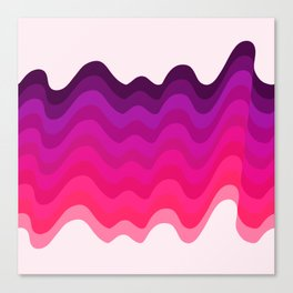 Retro Ripple in Pinks Canvas Print