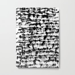 Black Pattern#2 Metal Print