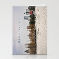 minneapolis Stationery Cards featuring Minneapolis by Kimberley Britt