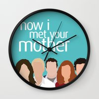 himym Wall Clocks featuring How I Met Your Mother by Rosaura Grant