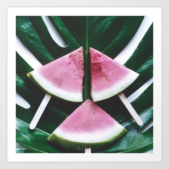 Tropical Watermelon Crush Art Print